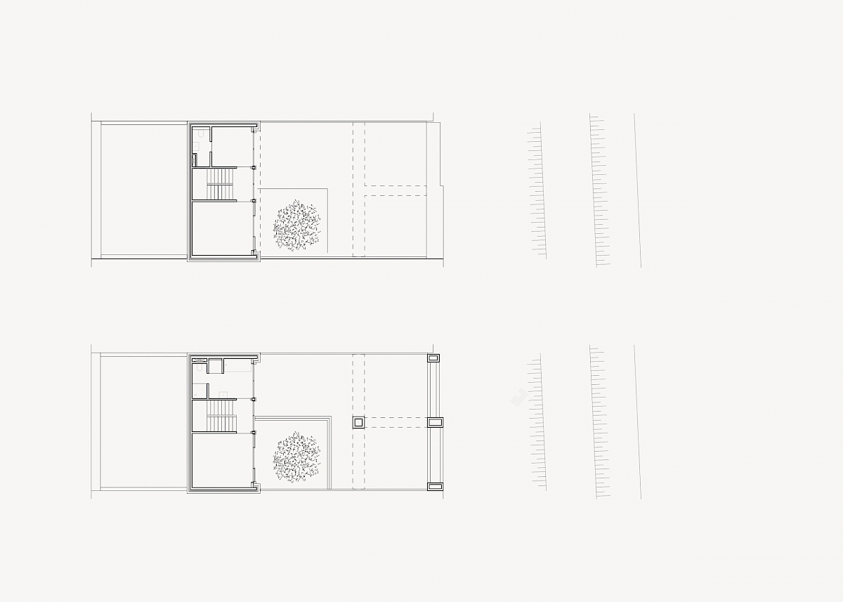 Second floor plan and roof terrace