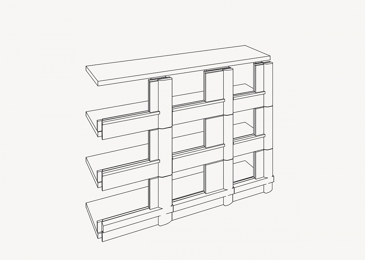 Stacking of loadbearing facade elements