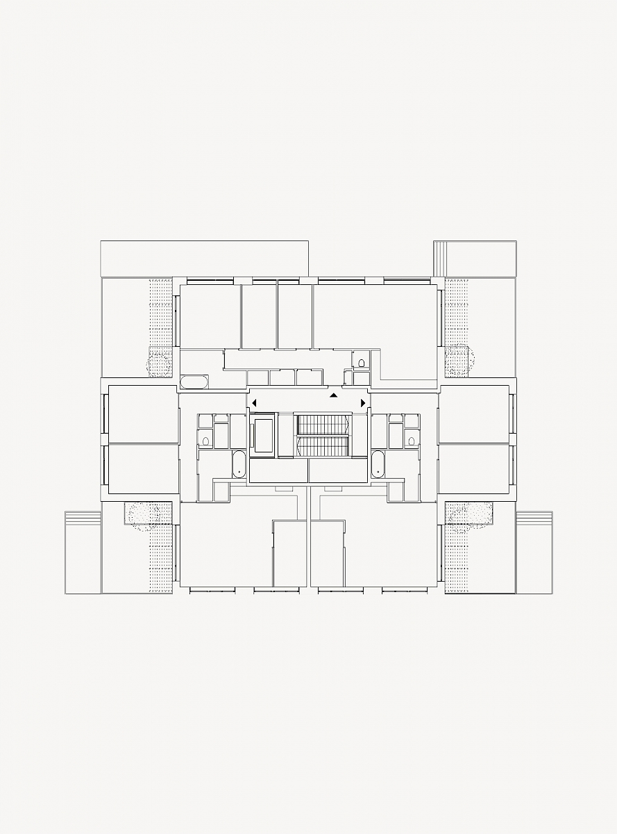 Floor plan, Block B and D