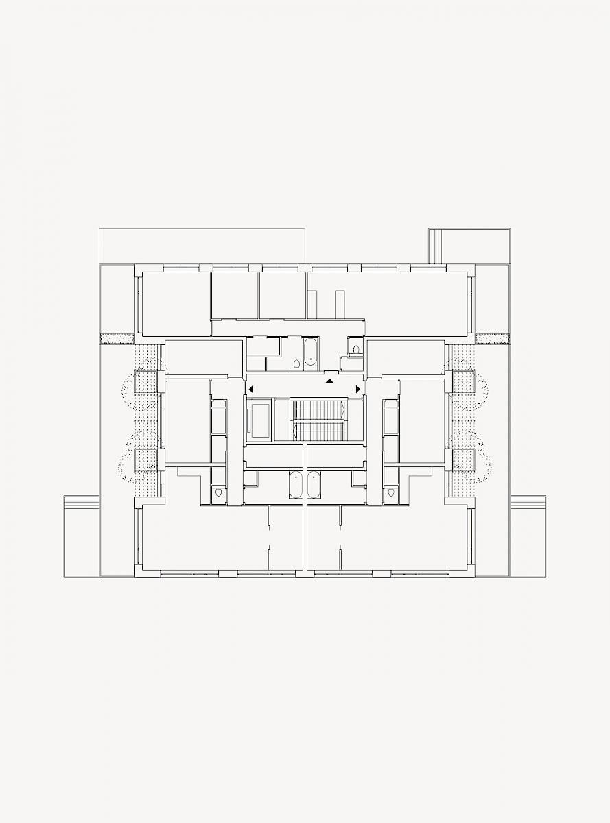 Floor plan, Block E