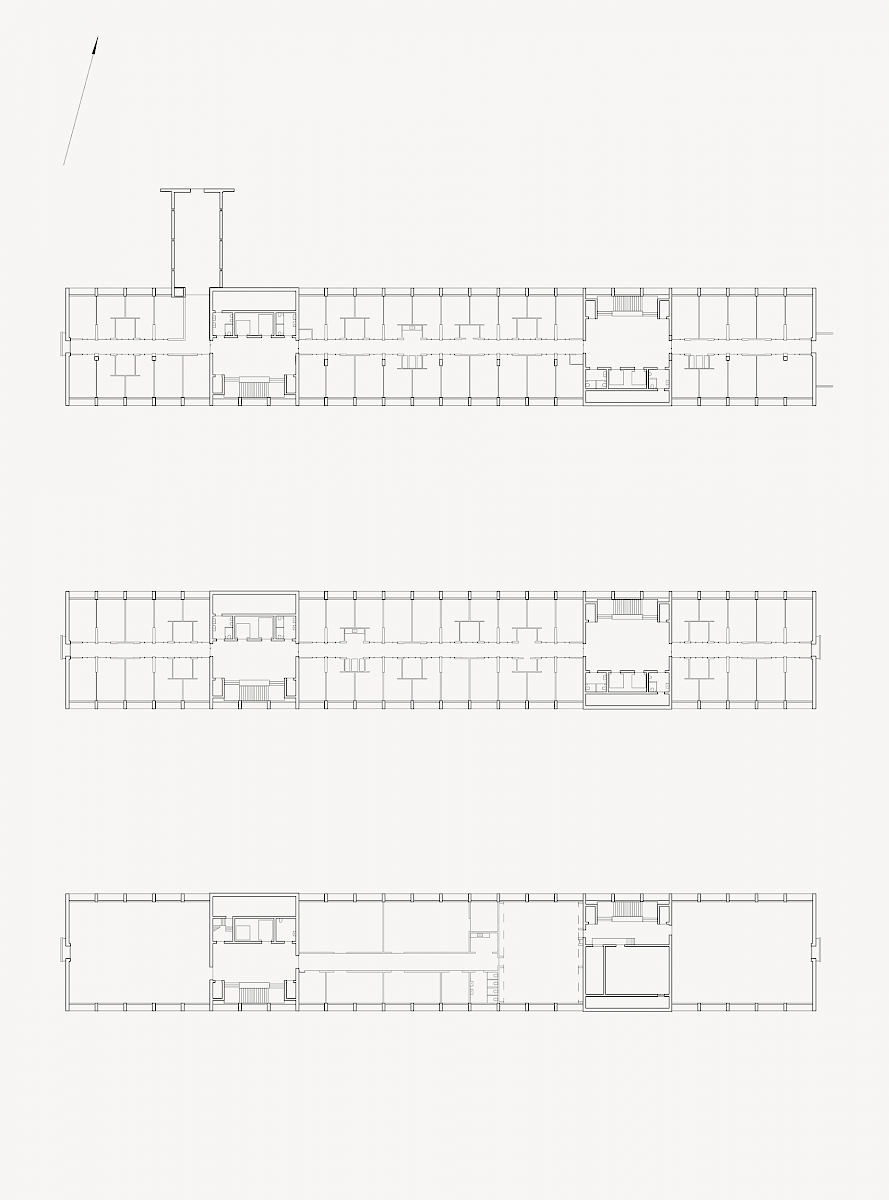 Floor plans, second, typical and twelfth floor